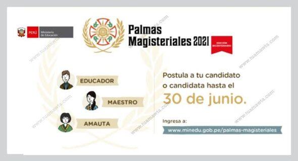 PALMAS MAGISTERIALES 2021-EDICIÓN BICENTENARIO
